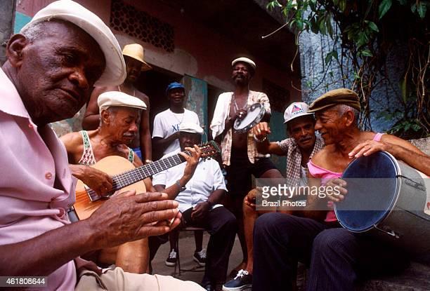 Roda de samba, meeting of samba singers and composers at Favela da Mangueira.