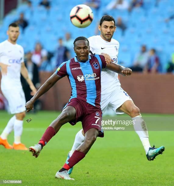 Rodallega of Trabzonspor in action during Turkish Super Lig soccer match between Trabzonspor and Kasimpasa at Medical Park Stadium in Trabzon Turkey...