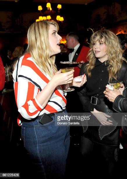 Rodarte CoFounder Kate Mulleavy and actor Natasha Lyonne attend the Coach Rodarte celebration for their Spring 2017 Collaboration at Musso Frank on...