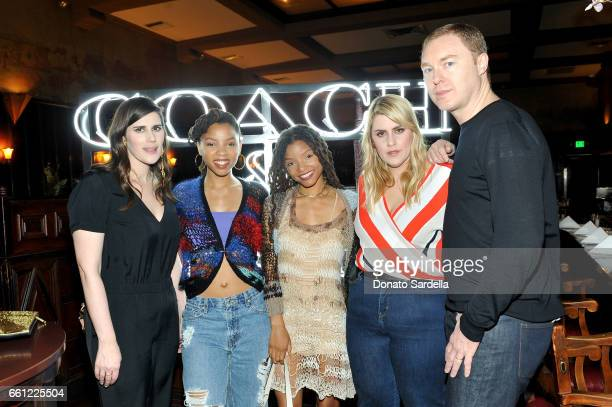 Rodarte CoFounder Laura Mulleavy actors/singers Chloe Bailey Halle Bailey Rodarte CoFounder Kate Mulleavy and Coach Creative Director Stuart Vevers...