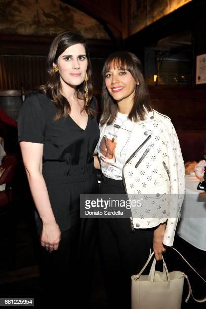 Rodarte CoFounder Laura Mulleavy and actor Rashida Jones attend the Coach Rodarte celebration for their Spring 2017 Collaboration at Musso Frank on...