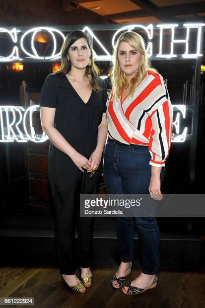 Rodarte CoFounders Laura Mulleavy and Kate Mulleavy attend the Coach Rodarte celebration for their Spring 2017 Collaboration at Musso Frank on March...
