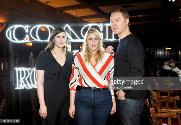 Rodarte CoFounders Laura Mulleavy Kate Mulleavy and Coach Creative Director Stuart Vevers attend the Coach Rodarte celebration for their Spring 2017...