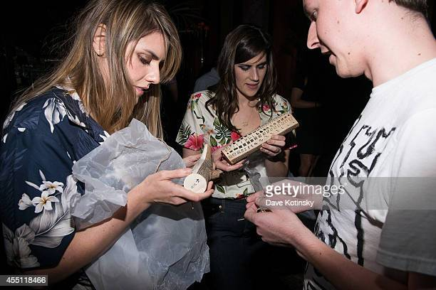 Rodarte designers Laura Mulleavy Kate Mulleavy and Mittias Brown attend the first Tumblr atternds the Fashion Honor presented to Rodarte at The Jane...