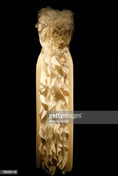 Rodarte evening dress is displayed at the Blogmode addressing fashion exhibit at the Metropolitan Museum of Art's Costume Institute on December 17...