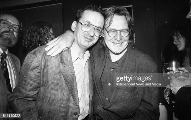 Roddy Doyle Author of The Commitments pictured with the Director Allen Parker at the Premier of The Commitments at the Savoy Cinema Dublin circa...