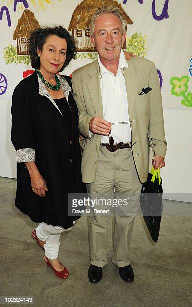 Roddy Llewellyn and Guest attend the VIP lunch for ASAP African Solutions for African Problems at the Louise Blouin Foundation on June 23 2010 in...