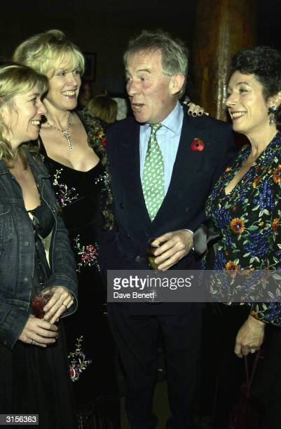 Roddy Llewellyn and wife and Louise Fennell attend Theo Fennell 21st Birthday Party at The Collection on October 29 2003 in London