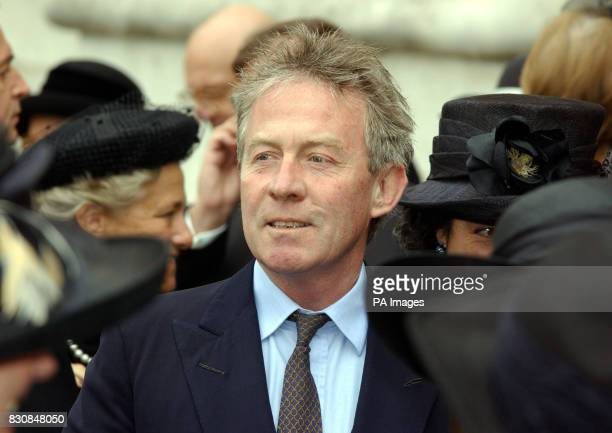 Roddy Llewellyn former boyfriend of Princess Margaret at Westminster Abbey London for her memorial service Princess Margaret the younger sister of...