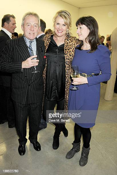 Roddy Llewellyn Louise Fennell and Alexandra Llewellyn attend the launch of Louise Fennell's debut novel Dead Rich at White Cube on February 8 2012...