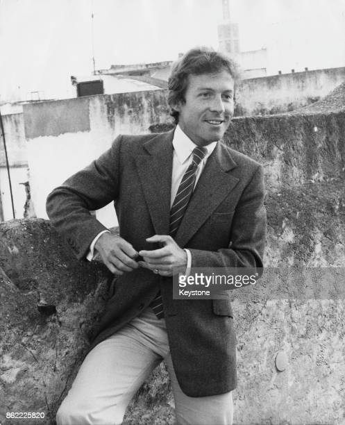 Roddy Llewellyn meets the press in the Kasbah in Tangier Morocco to refuse to discuss his relationship with Princess Margaret 14th May 1978
