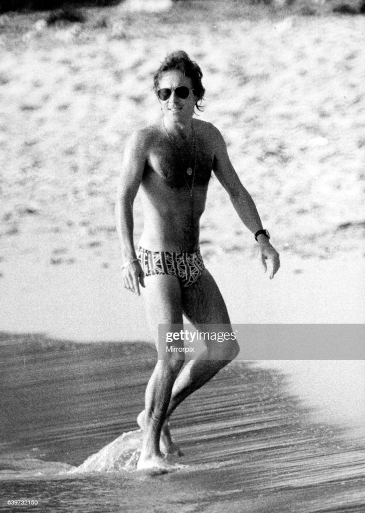 Roddy Llewellyn On The Beach Mustique Island March 1980 While Holiday There With
