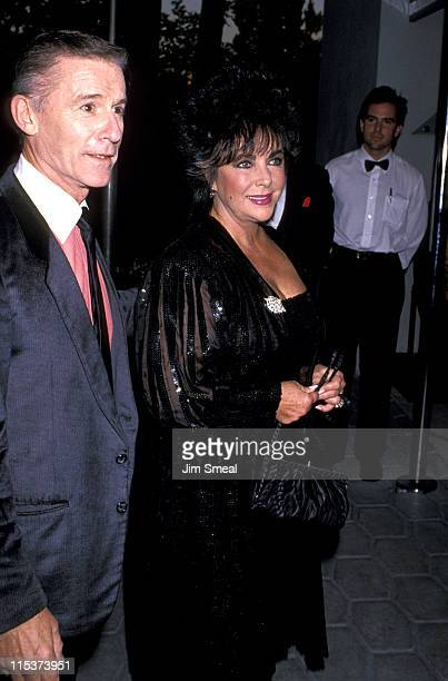 Roddy McDowall and Elizabeth Taylor during Roddy McDowell's Book Publication Party at St James Club in New York City New York United States