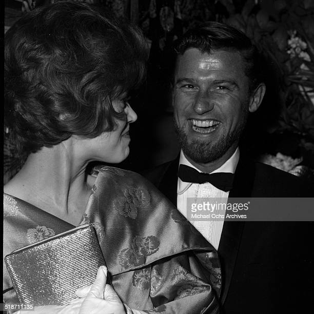 Roddy McDowall and Jane Fonda arrive to an event in Los AngelesCA