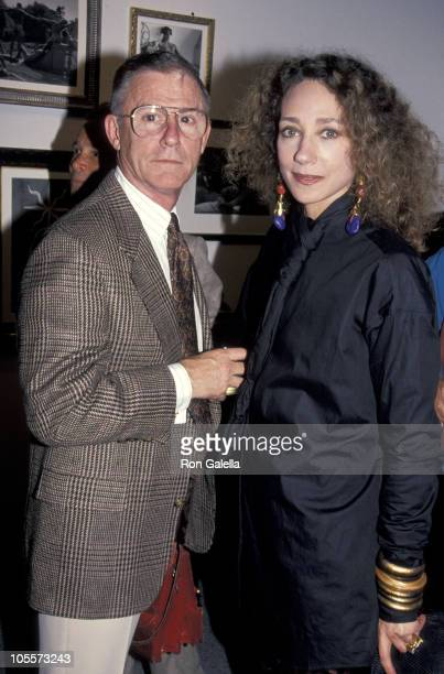 Roddy McDowall and Marisa Berenson during Bruce Weber Exhibit at Fahey/Klein Gallery in Los Angeles California United States