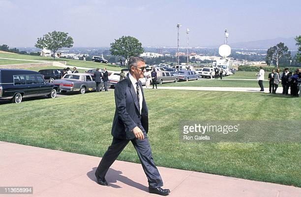 Roddy McDowall during Funeral of Sammy Davis Jr at Forest Lawn Memorial Park in Los Angeles California United States