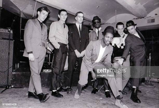 Roddy Radiation Sir Horace Gentleman Terry Hall Neville Staples Lynval Golding John Bradbury and Jerry Dammers of the Specials circa 1978 in New York