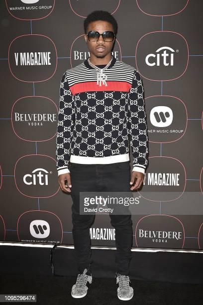Roddy Ricch attends the Warner Music Group PreGrammy Celebration at Nomad Hotel Los Angeles on February 7 2019 in Los Angeles California
