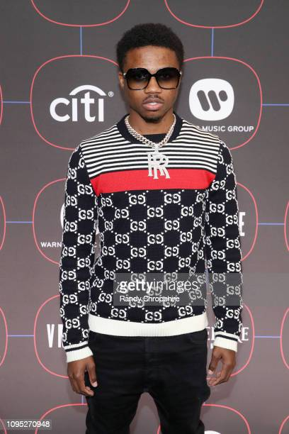Roddy Ricch attends the Warner Music PreGrammy Party at the NoMad Hotel on February 7 2019 in Los Angeles California