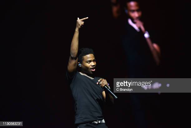 Roddy Ricch performs live on stage at the O2 Arena on March 14 2019 in London England