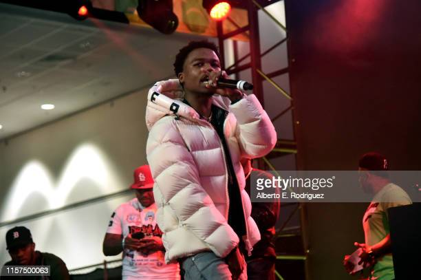 Roddy Ricch performs onstage at the 2019 BET Experience DJ Hed Presents Kicksperience Sponsored by Sprite at Los Angeles Convention Center on June 21...