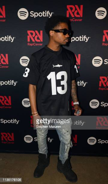 Roddy Ricch poses for a photograph backstage during Spotify's RapCaviar Live at Varsity Theater on April 5 2019 in Minneapolis Minnesota