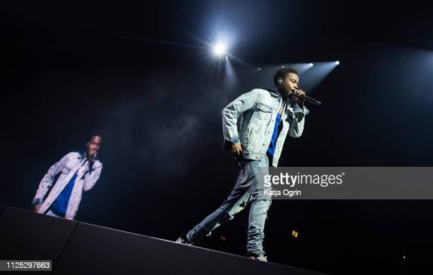 Roddy Ricch supports Post Malone in concert at the Resorts World Arena on February 16 2019 in Birmingham England