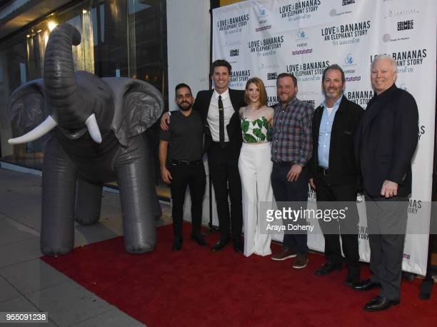 Roddy Tabatabai John Michael McCarthy Ashley Bell Ross M Dinerstein AbramoramaÕs Evan Saxon and David Casselman attend the Love Bananas An Elephant...