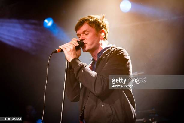 Roddy Woomble of Idlewild performs on stage at Becketts Student Union on April 25 2019 in Leeds England