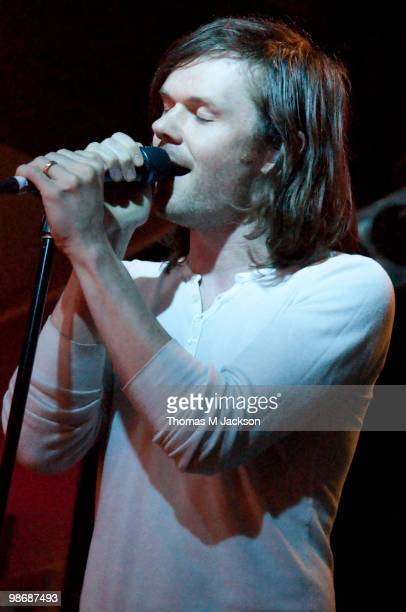 Roddy Woomble of Idlewild performs on stage at O2 Academy on April 26, 2010 in Newcastle upon Tyne, England.