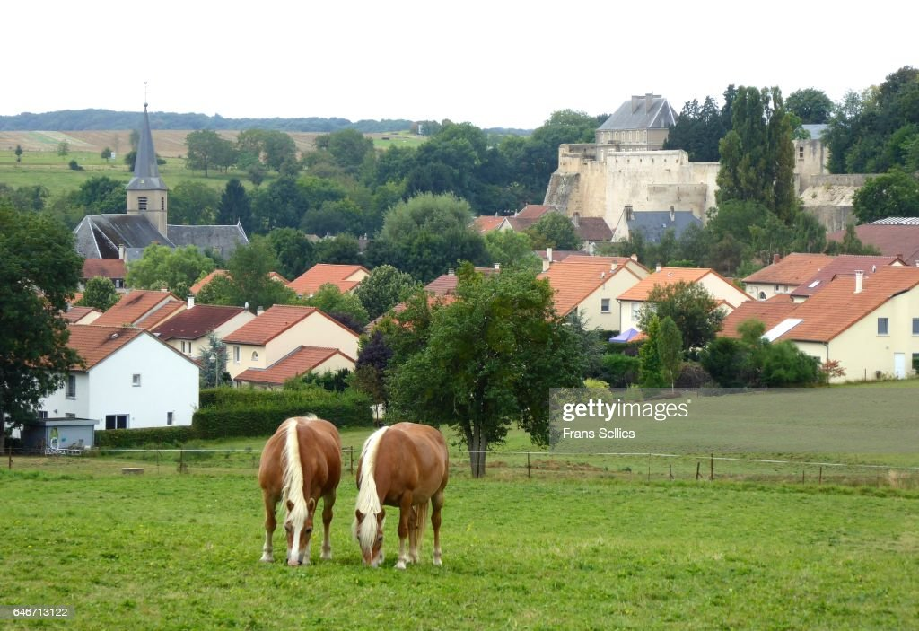 Rodemack, Lorraine, France : Stockfoto