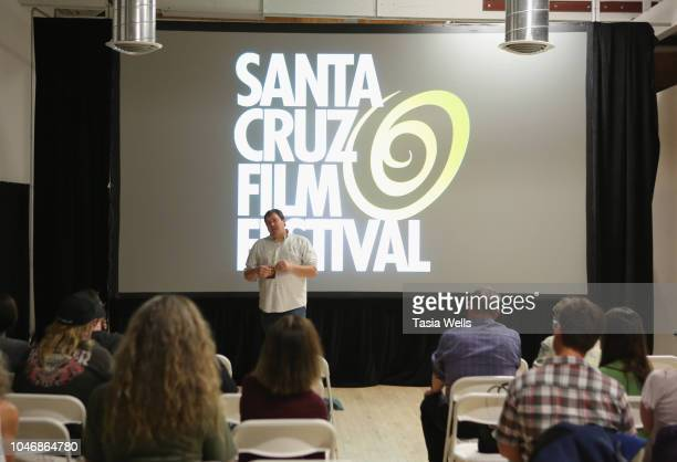 'Rodents of Unusual Size' filmmaker speaks onstage during the 2018 Santa Cruz Film Festival on October 6 2018 in Santa Cruz California
