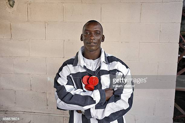 Angola Prison Rodeo Portrait of inmate Chris Gage posing with his poker chits during photo shoot at Louisiana State Penitentiary Gage is a threetime...