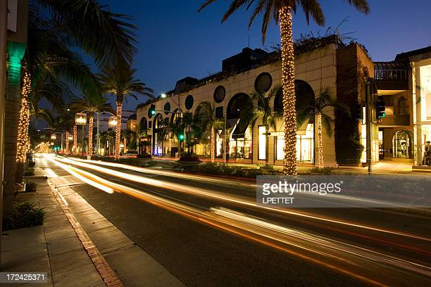 Rodeo Drive Beverly Hills Long Exposure