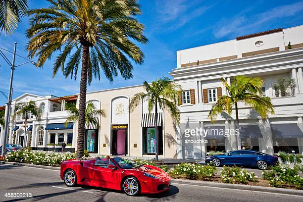 rodeo drive, beverly hills - beverly hills california stock pictures, royalty-free photos & images