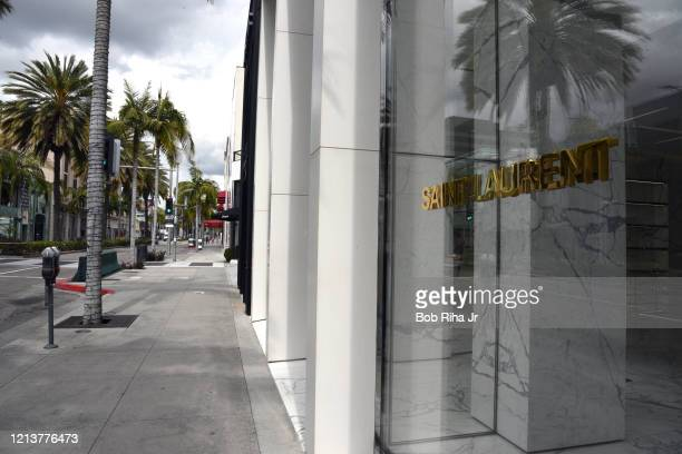 Rodeo Drive in Beverly Hills is void of vehicles and groups of people, the day after California Governor Gavin Newsom directed all Californians to...