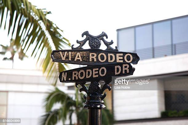 Rodeo drive in Los Angeles California