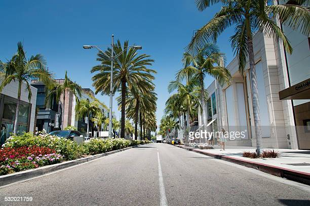 rodeo drive - beverly hills california stock pictures, royalty-free photos & images