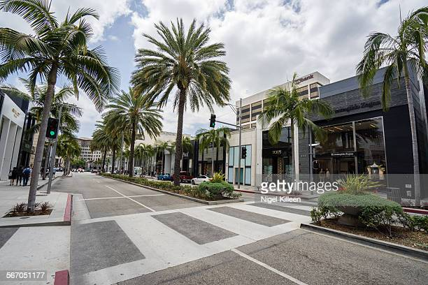 rodeo drive - beverly hills stock pictures, royalty-free photos & images