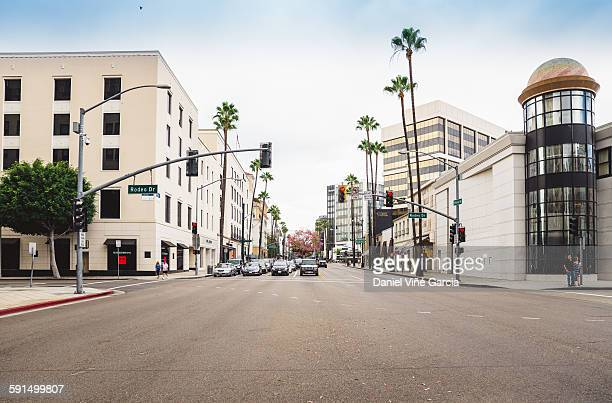 rodeo drive - de stad los angeles stockfoto's en -beelden