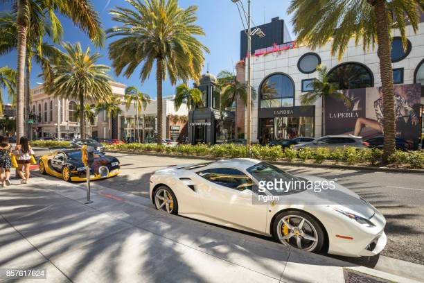 rodeo drive shopping district in california usa - beverly hills california stock pictures, royalty-free photos & images
