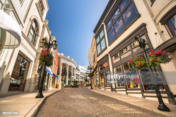 Rodeo Drive shopping district in Los Angeles California USA