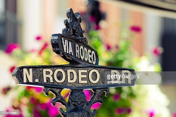 Rodeo Drive sign in Beverly Hills, CA