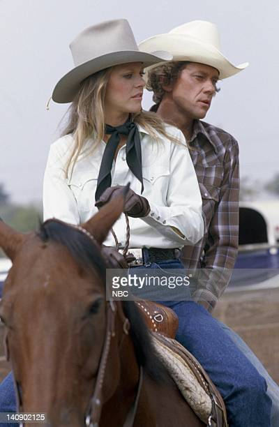WOMAN 'Rodeo' Episode 5 Aired 10/15/77 Pictured Lindsay Wagner as Jamie Sommers Andrew Prine as Dr Billy Cole Photo by NBCU Photo Bank