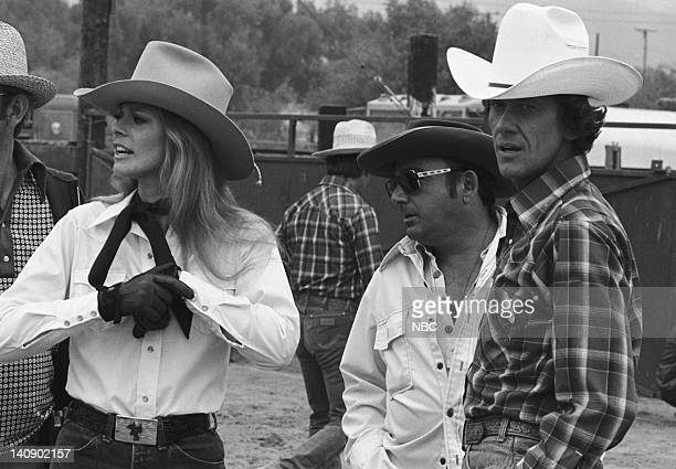 WOMAN 'Rodeo' Episode 5 Aired 10/15/77 Pictured Lindsay Wagner as Jamie Sommers unknown Andrew Prine as Dr Billy Cole Photo by NBCU Photo Bank