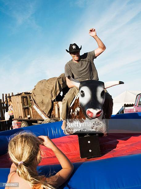 Rodeo in a amusement park.