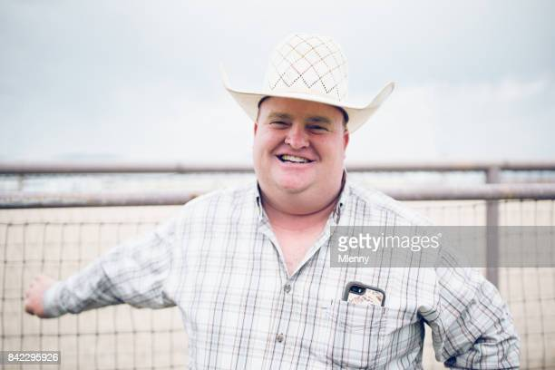 rodeo people smiling cowboy portrait - mlenny photography stock pictures, royalty-free photos & images