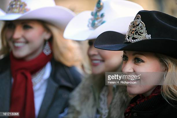 Rodeo queens line up for photographs from fans They are from right to left Sadie Wardner Miss Rodeo from Cole Harbor North Dakota Cassidy Cabot Miss...