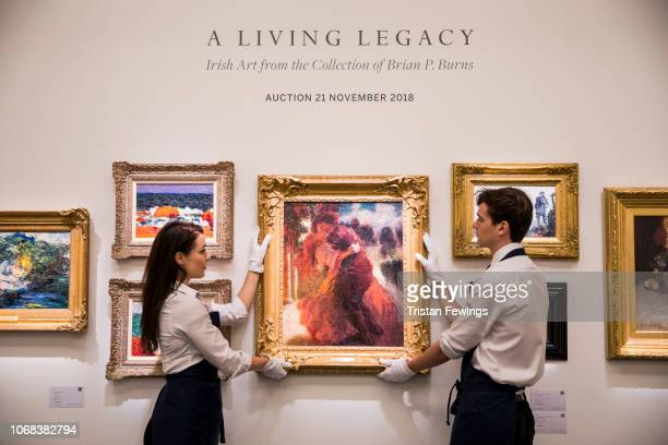 Roderic O'Conor's 'Romeo and Juliet' goes on view at Sotheby's on November 16 2018 in London England To be sold as part of a sale of Irish Art from...