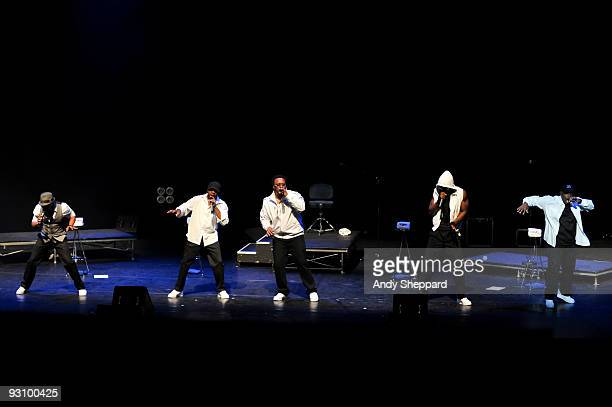 Roderick Eldridge Warren Thomas Roger N'glish Thomas Jamal Reed and Dwight Stewart of Naturally 7 perform on stage at Royal Festival Hall as part of...